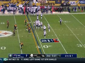 Watch: Bill Belichick tries to trick Steelers on fourth down punt