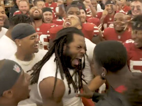 Watch: Sherman receives game ball after win over Seahawks