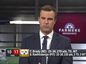 Watch: DJ: I've never seen Gronk struggle to move around like he did against the Steelers