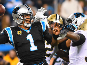 Watch: Cam vs. Cam! Jordan disrupts Newton's fourth-down pass to seal Saints' win