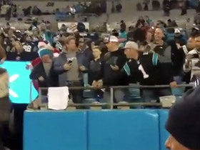 Watch: Carolina Panthers fan rejects visor from Sean Payton