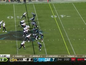 Watch: Watch Bradberry read Brees for an INT in 360 degrees | True View