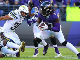 Watch: Bowser, Mosley deliver critical turnover to set up Ravens in the red zone