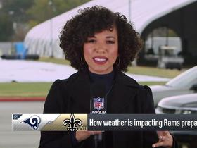 Watch: How has rainy weather affected Rams' NFC Championship preparations?