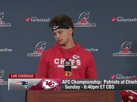 Watch: Patrick Mahomes addresses the media ahead of first AFC Championship appearance