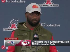 Watch: Damien Williams addresses the media ahead of AFC Championship