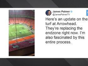 Watch: Updated look at Arrowhead Stadium playing surface before Sunday's game