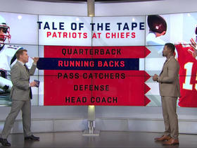 Watch: James Jones responds to Pats' tweet about his 'Tale of the Tape' segment