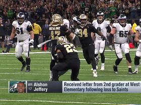 Watch: Alshon Jeffrey surprises school who wrote him letter after loss