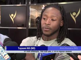 Watch: Alvin Kamara: Taysom Hill opens up field for me