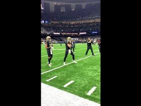 Watch: Brees warms up prior to NFC Championship Game