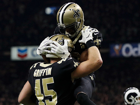 Watch: Garrett Griffin's first catch of the year goes for Saints TD
