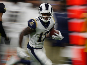 Watch: Cooks dances along sideline for 25-yard catch and run