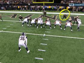 Watch: Goff silences the Superdome with TD toss to Higbee