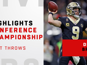 Watch: Drew Brees' best throws against the Rams | NFC Championship