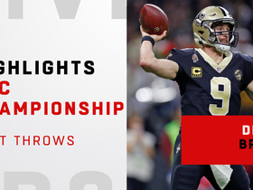 Watch: Drew Brees' best throws against Rams | NFC Championship Game