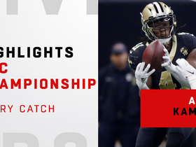 Watch: Every one of Alvin Kamara's 11 catches | NFC Championship