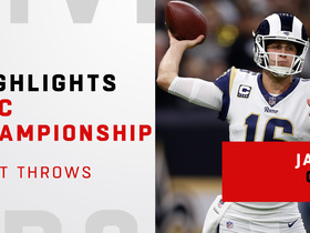 Watch: Jared Goff's best passes against the Saints | NFC Championship Game