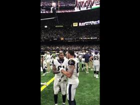 Watch: Rams bench storms field to celebrate Super Bowl berth