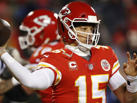 Watch: Mahomes delivers incredible sidearm throw to Watkins on third down
