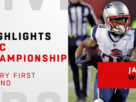 Watch: Every first down generated by James White | AFC Championship Game