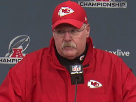 Watch: Andy Reid reacts to Chiefs' AFC title game loss to Patriots