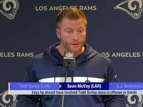 Watch: Sean McVay: I should have gotten Todd Gurley 'more involved'