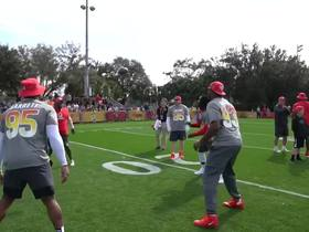 Watch: AFC Pro Bowl teammates play hot potato at practice
