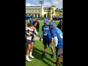 Watch: Ciara and daughter Sienna join Russell Wilson at Pro Bowl practice