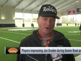 Watch: Gruden highlights players impressing during Senior Bowl practice