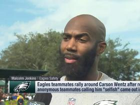 Watch: Malcolm Jenkins responds to reports about Carson Wentz