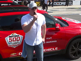 Watch: Watt becomes first NFL player to grand marshal Daytona 500