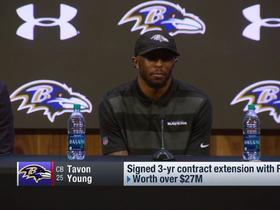 Watch: Tavon Young on three-year contract extension: 'I'm home ... I love it here'