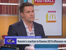 Watch: Ronnie Stanley shares his reaction to the Ravens offseason moves