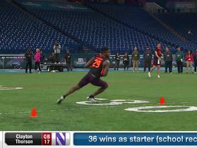 Watch: Clayton Thorson's 2019 NFL Scouting Combine workout