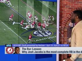 Watch: Nate Burleson explains why Josh Jacobs is the 'most complete' running back prospect