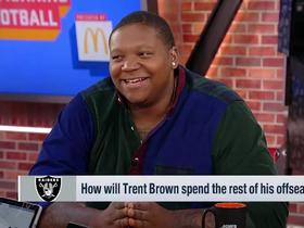 Watch: Trent Brown breaks down his record-setting deal with Raiders