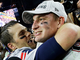 Watch: Tom Brady reacts to Rob Gronkowski's career