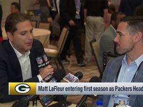 Watch: Matt LaFleur reacts to the Packers opening the NFL's 100th season