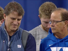 Watch: Mike Shula chats with Daniel Jones' HC David Cutcliffe at pro day