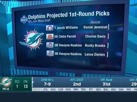 Watch: Dolphins pick No. 13 | Mock Draft Live
