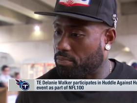 Watch: Delanie Walker participates in Huddle Against Hunger event