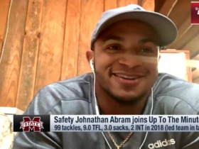 Watch: Johnathan Abram: 'I'm the hardest hitting player in the draft'