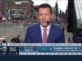 Watch: Rapoport: Giants could trade for third first-round pick for QB