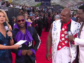Watch: DeAngelo Williams and Vince Wilfork prepare to interview draft picks