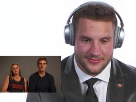 Watch: Nick Bosa reacts to parents' draft message