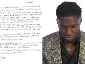 Watch: Josh Allen reads emotional letter from his mom on draft night