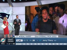 Watch: N'Keal Harry describes life-changing phone call with Belichick, Patriots