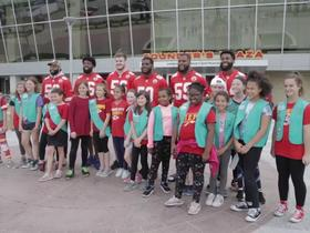 Watch: Chiefs teamed up with Girl Scouts inside Arrowhead Stadium