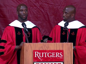 Watch: Devin and Jason McCourty motivate Rutgers graduates with speech